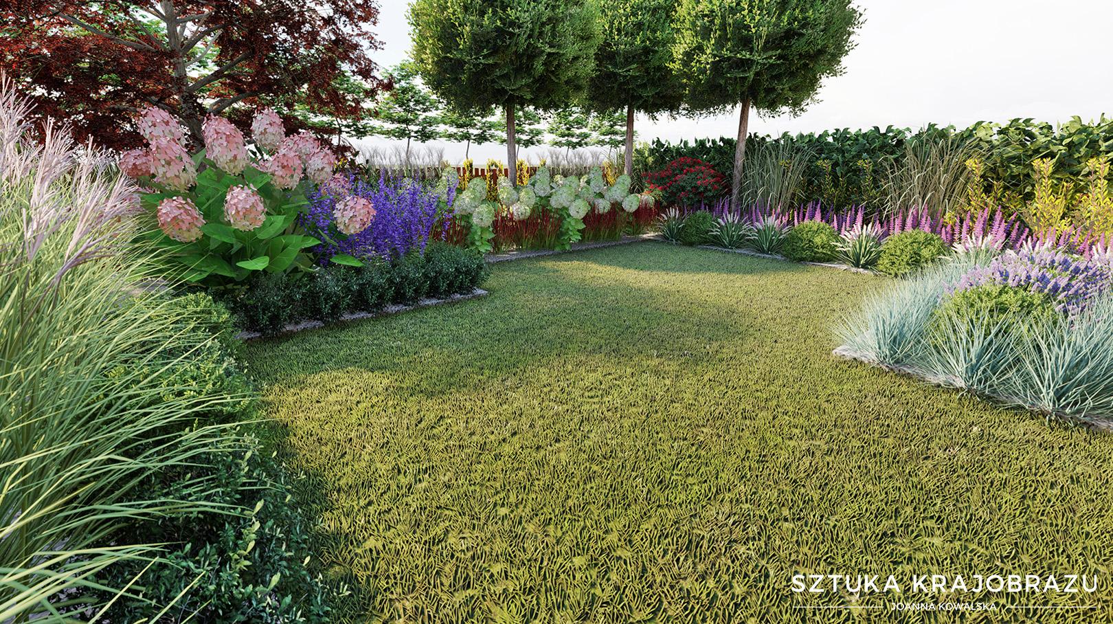 Mały ogród w zabudowie szeregowej