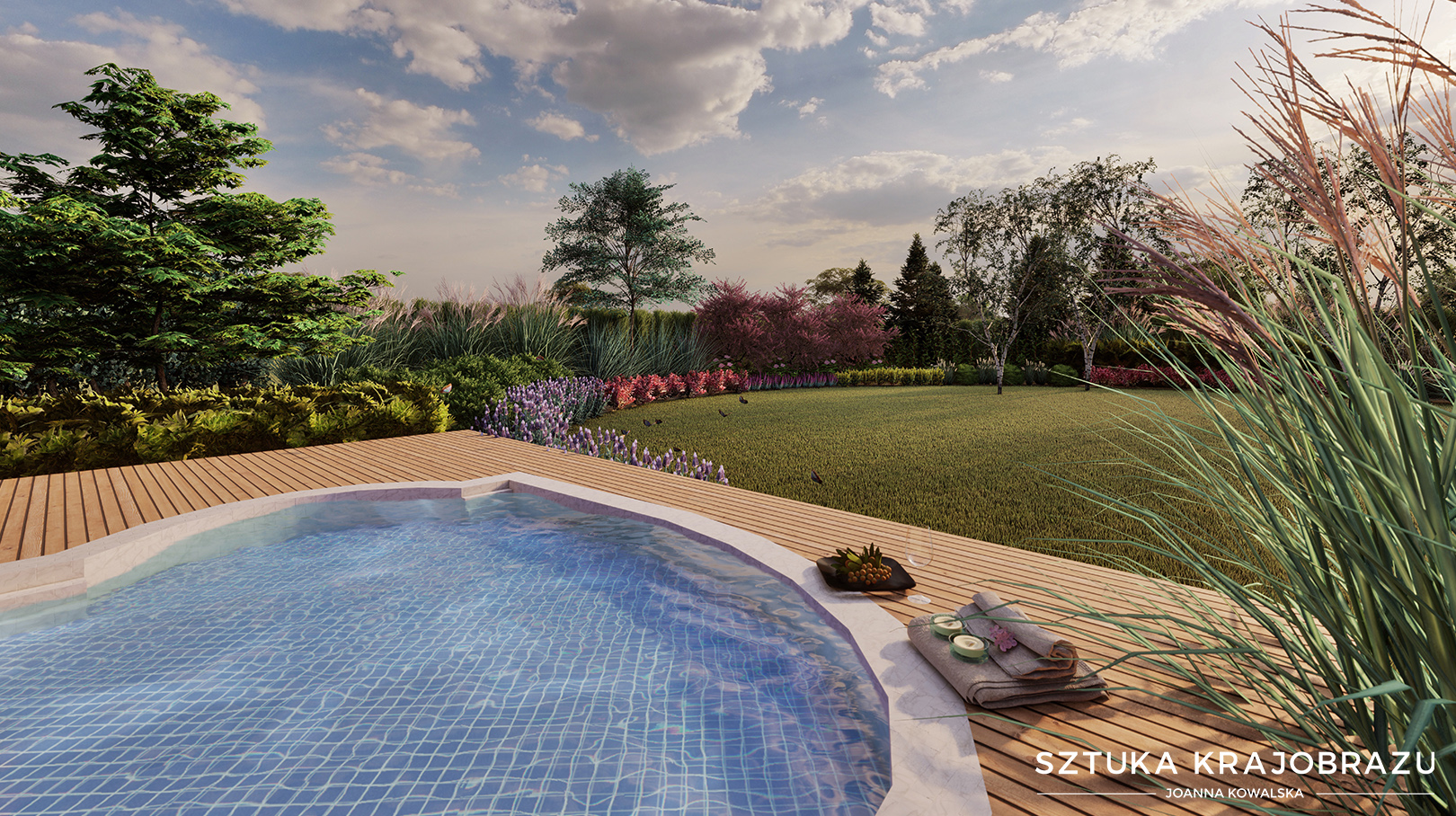 Ogród z jacuzzi