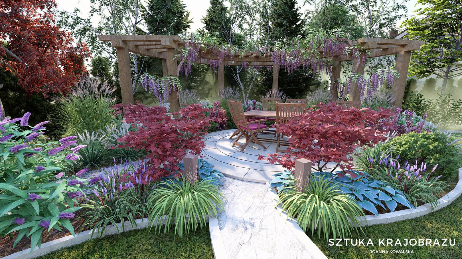 Ogród z pergolą